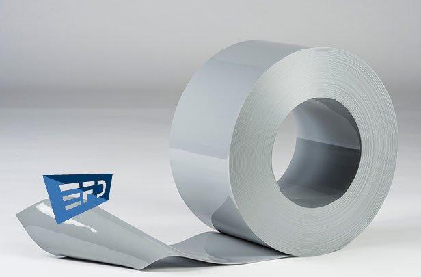 PVC Streifen Rollenware Grau Undurchsichtig
