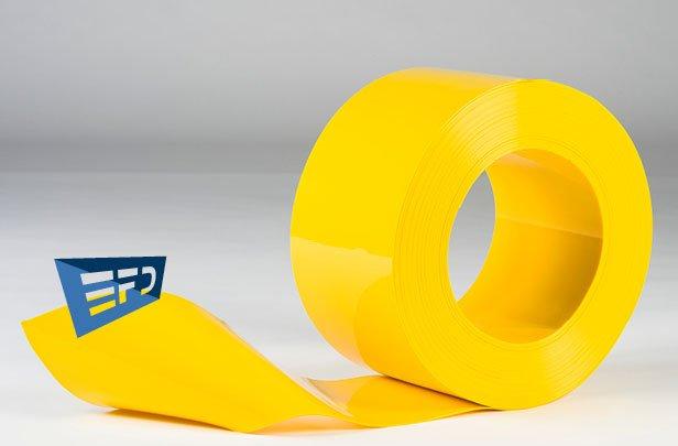 PVC Streifen Rollenware Gelb Undurchsichtig
