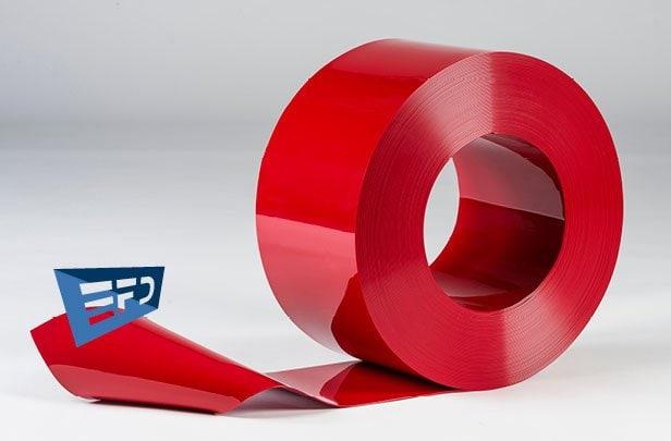 PVC Streifen Rollenware Rot Undurchsichtig