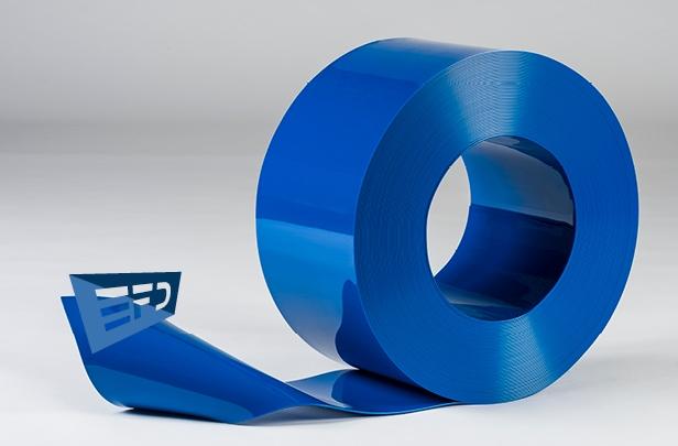 PVC Streifen Rollenware Blau Undurchsichtig
