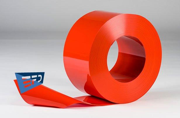 PVC Streifen Rollenware Orange Undurchsichtig
