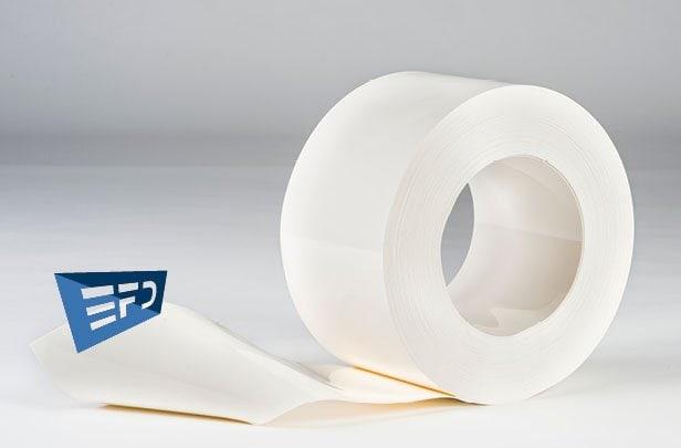 PVC Streifen Rollenware Weiß Undurchsichtig