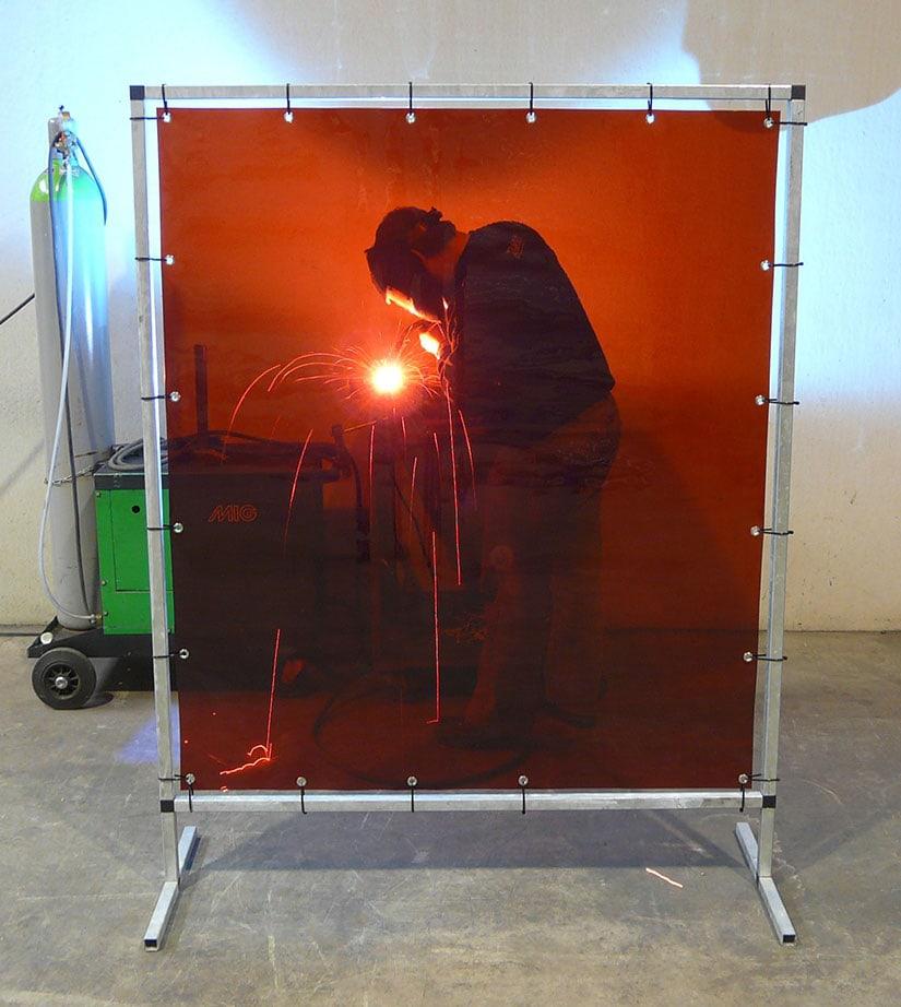 Schweißlamellen Schweißschutzwand Rot S140