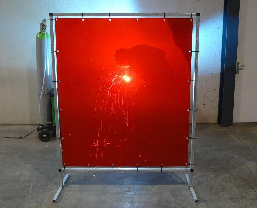 Schweißlamellen Schweißschutzwand S 140 Rot