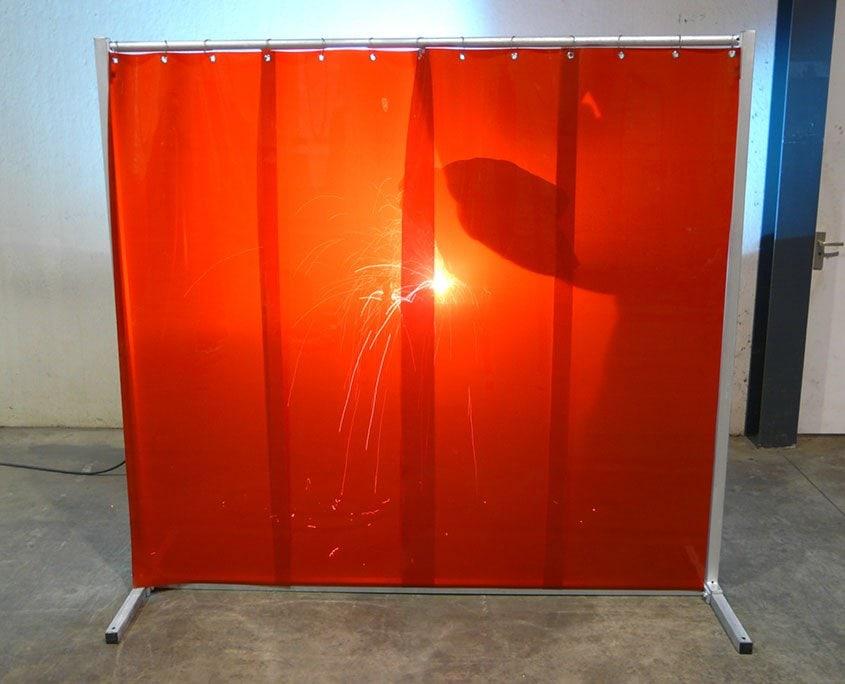 Schweißlamellen Schweißschutzwand S140 Rote lamellen