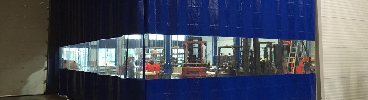 Industrievorhänge Werkstatt Vorhänge