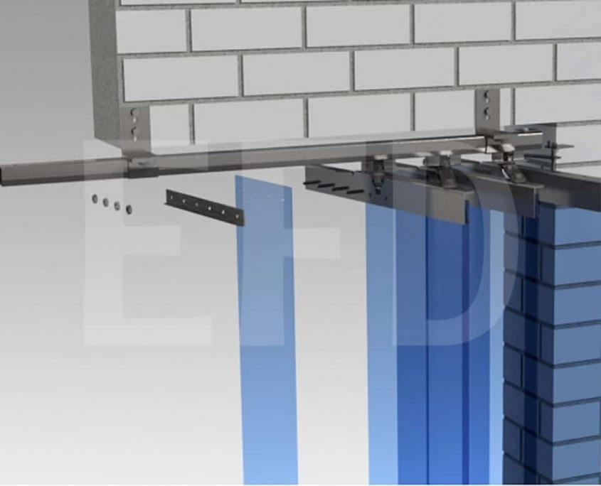 PVC Streifenvorhang Verschiebbar Befestigung Accordeon