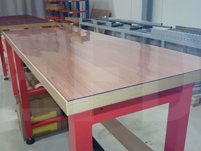 Tischschutzmatte Transparent