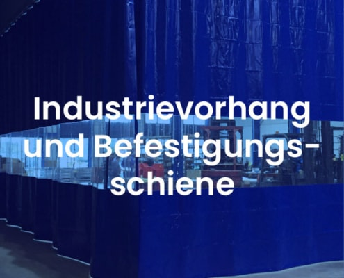 Industrievorhang und befestigungschiene