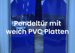Pendeltür mit weich PVC Platten