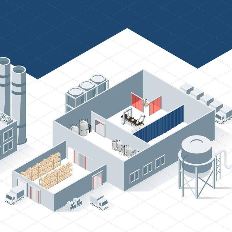 Illustratie industrie EFD