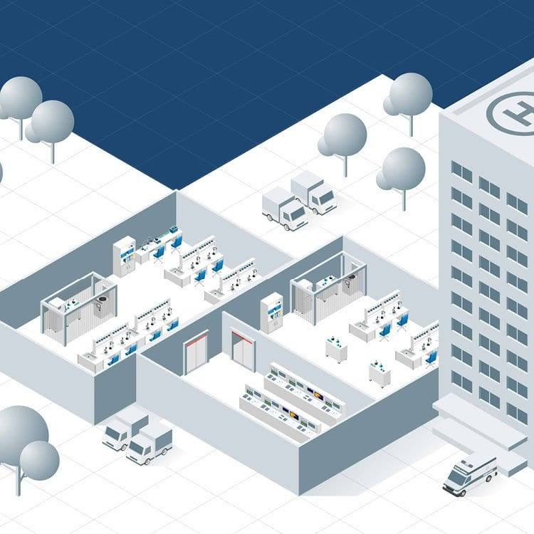 Illustratie cleanrooms en laboratoria EFD