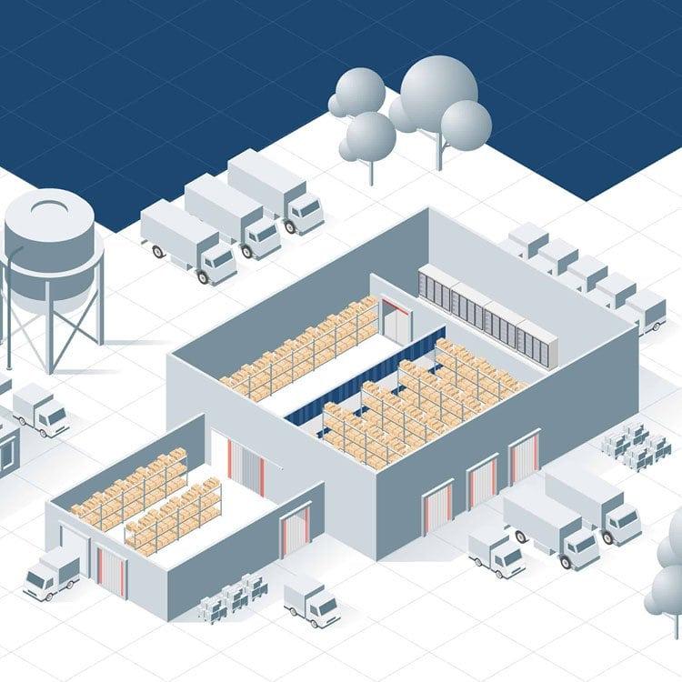 Illustratie distributie en logistiek EFD