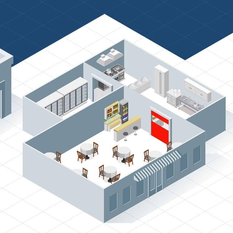 Illustratie horeca & retail EFD