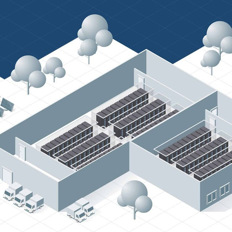 illustratie datacentra en ICT EFD