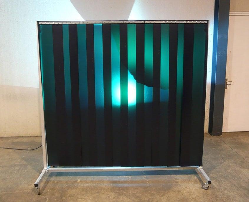Lasscherm L 210 groen laslamellen