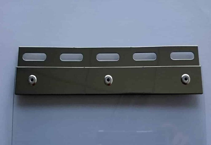 Hook-on mounting hardware