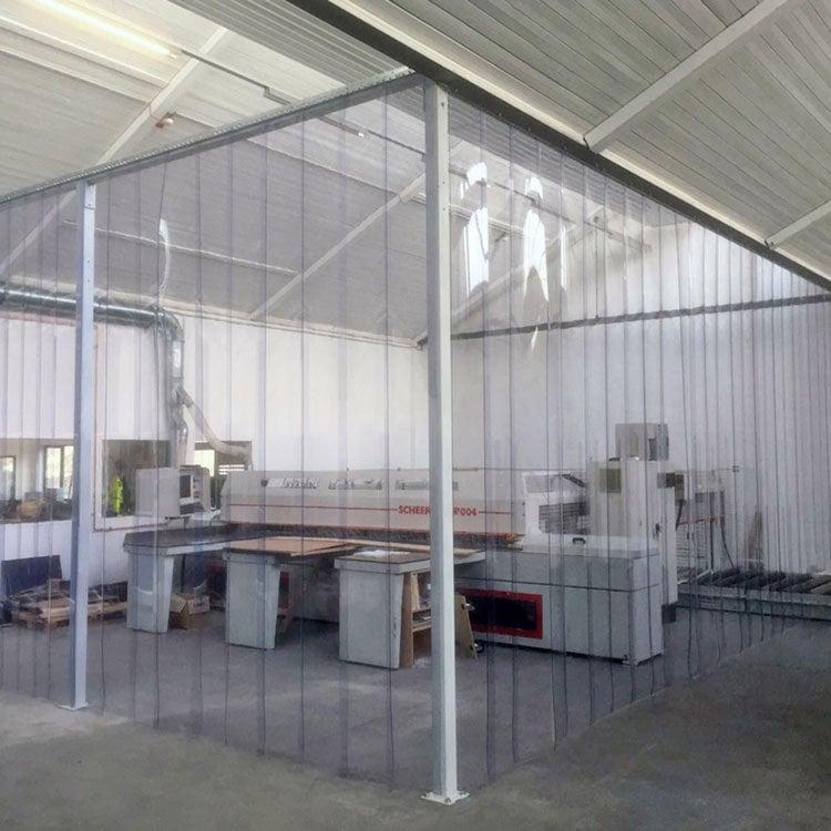 PVC strip curtain custom construction