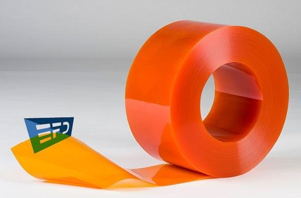 PVC Strips orange clear