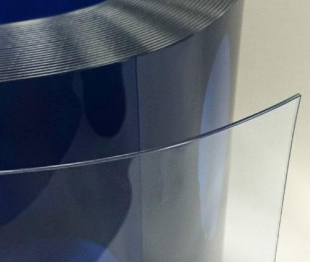 PVC strips antistatic clear