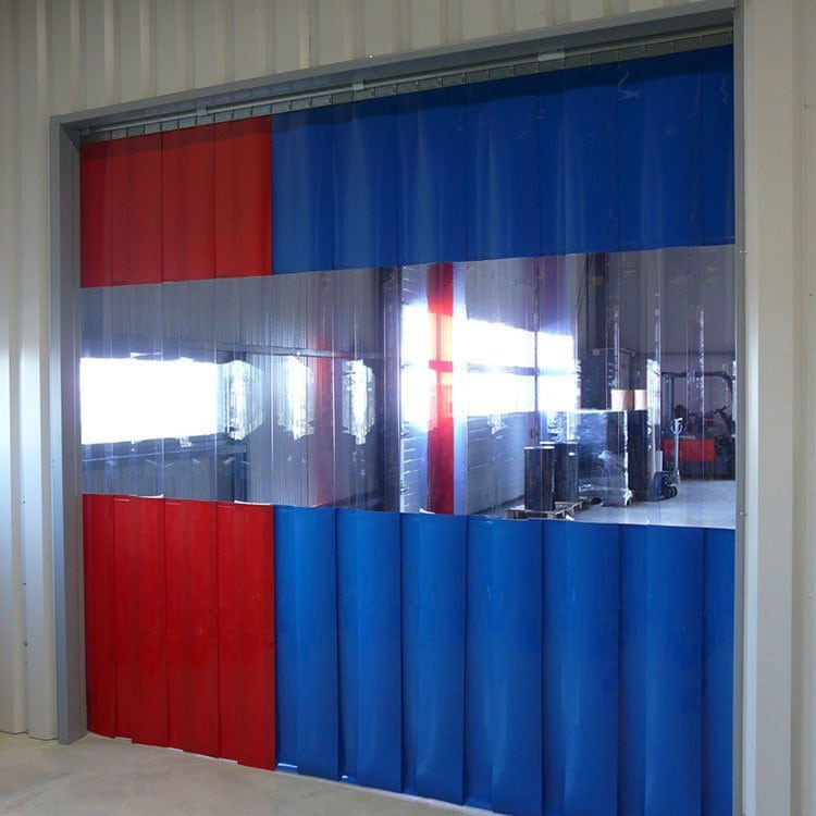 PVC strip curtain combo
