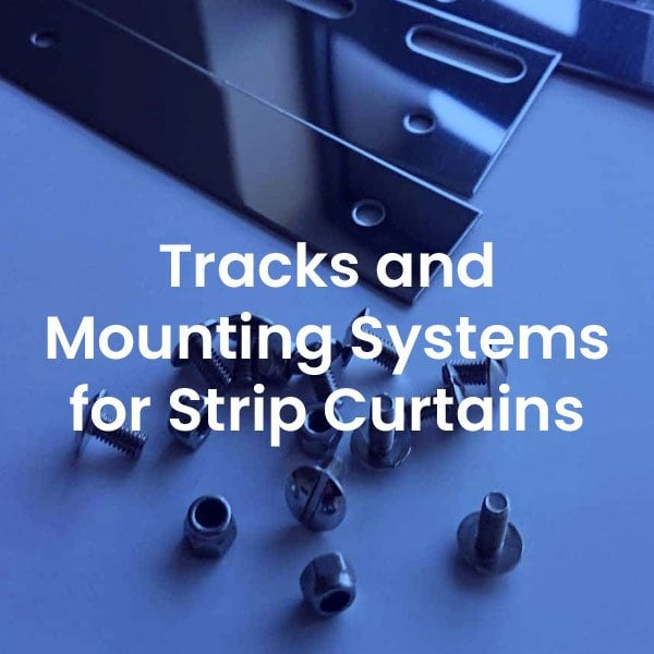 Tracks and mounting systems for strip curtains